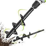 W0RKPRO Auger Drill Bit Set, Gartenbohrer,Erdbohrer für Bohrmaschine Spiralbohrer Garten Pflanzwerkzeug (8 x 30 cm & 4 x 22 cm) 2-teilig