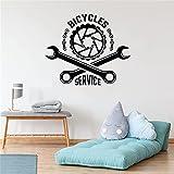 Tienda de bicicletas calcomanías de pared estilo libre vehículo todoterreno deportes herramientas de reparación de motocicletas decoración del hogar mural A1 68x57cm