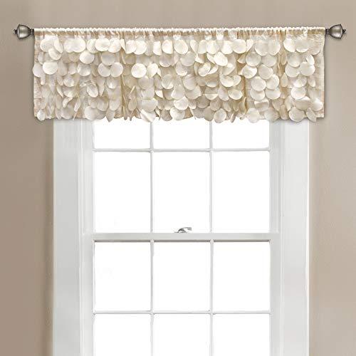 Lush Decor, Blush Gigi Valance Textured Window Kitchen Curtain