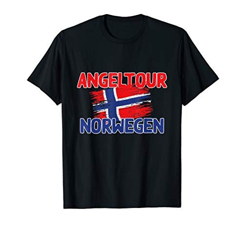 Herren Original NORWEGEN 2020 - Angel Tour mit Flagge T-Shirt
