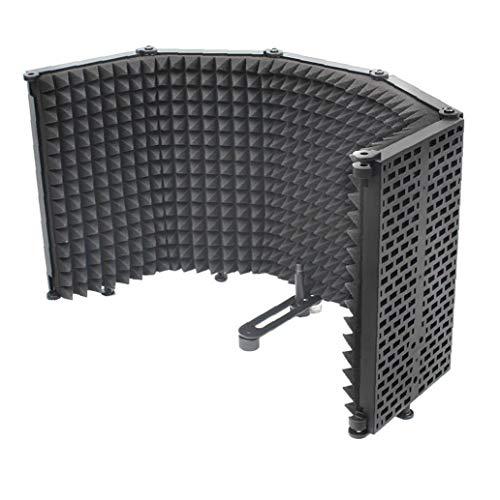 Micrófono Mic Aislamiento Escudo De Absorción De Sonido De Panel Plegable De Espuma Reflector para La Grabación del Estudio del Equipo