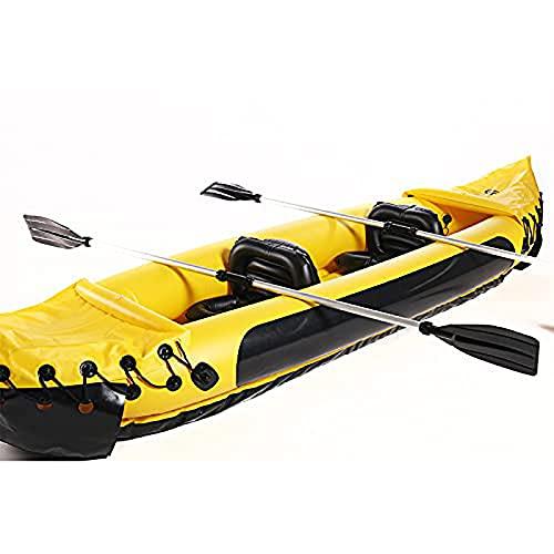 QSKL Kayak Inflable para 2 Personas, Kayak, Bote de Asalto de PVC Engrosado, Bote de Goma Plegable para Pesca