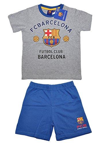 Pijama 100% oficial del FC Barcelona de manga corta para niños | Messi Suarez Neymar