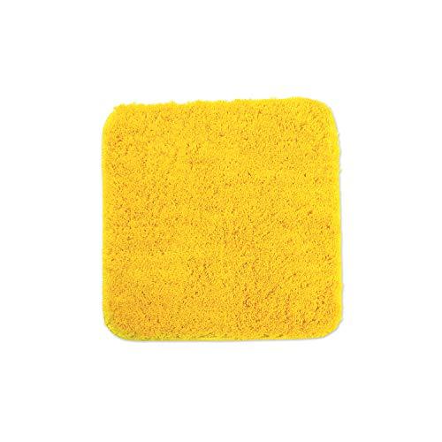 WohnDirect Alfombrilla de baño – Alfombra baño – Antideslizante – Alfombra para el Cuarto de baño – Lavable – Alfombrilla para el Inodoro – Amarillo - 45 x 45 cm