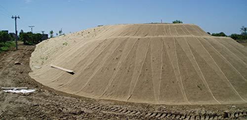 NOOR Erosionsschutzmatte 1,22 x 50m 250 g/m² I Biologisch-abbaubares Jutenetz für Pflanzen I Chemikalienfreie Böschungsmatte I Zur Anwendung an Hängen