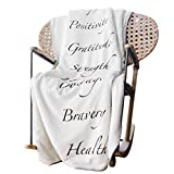 Healing Blanket with Inspirational Message of Love Hope Happiness Health - Super Soft Throw Blanket is The Perfect Recovery Blanket or Cancer Gift for Men and Women - Purple Blanket