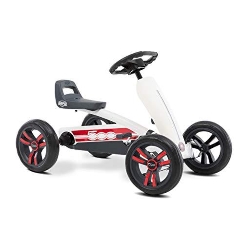 Karting vélo pour enfants kart à quatre roues bébé poussette jouet poussette volant design siège 3 réglable, traction arrière puissante (Color : WHITE, Size : 83 * 49 * 50CM)