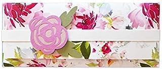 Porta soldi - peonia - cerimonie - matrimonio - busta portasoldi (formato 22 x 9,5 cm) + biglietto d'auguri vuoto all'inte...