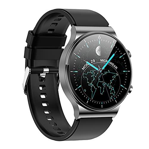 Generic Reloj inteligente, rastreador de actividad con pantalla táctil de 1,3 pulgadas, impermeable, con monitor de sueño, contador de pasos para mujeres y hombres, correa de silicona gris