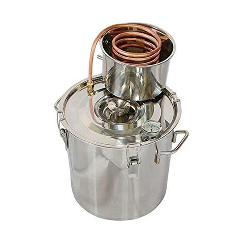 metagio Kit de elaboración de vino de 6/8 L para destilador de alcohol de agua + caldera de acero inoxidable + tubo de bricolaje Househould (3GAL)