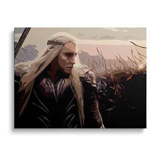YYCCUI Digitale Malerei für Erwachsene The Hobbit: Thranduil, Movie Poster Digitales Malen DIY für Erwachsene und Kinder Leinwand Ölgemälde Geschenkset 40x50cm