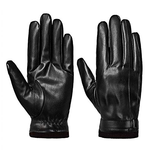 Winter Gloves for Men, Touchscreen Warm Winter Gloves Leather Windproof Glove