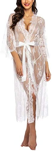 Avidlove Lingerie for Women Sexy Long Lace Dress See Through Kimono Robe product image