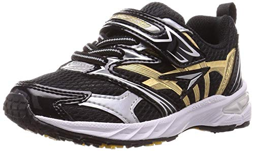 [シュンソク] スニーカー 運動靴 幅広 軽量 15~23cm 2.5E キッズ 男の子 SJC 8340 ブラック 18 cm