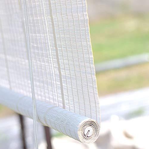 ZLI Tende a Rullo tonalità di Rullo Bianche All'aperto del Patio, Persiane Oscuranti Serie Hook Up per Portico Pergolato di Gazebo, Larghezza 60/80/90/100/120/140 cm (Size : W 90×H 100cm)