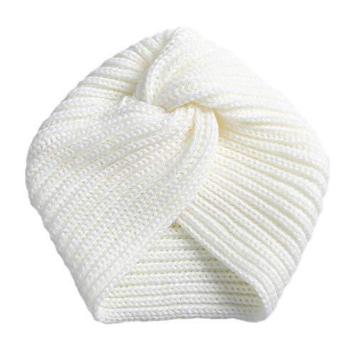 Turbantes Headband Diademas para Mujer Turbantes Crochet Knitting Pearl Diademas De Diamantes De Imitación Invierno Muje
