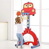 FANGX Multifonctionnel Support De Panier De Basket-Ball Réglable en Hauteur Tir de Fitness pour Intérieur Extérieur Enfants Enfants Jouet Cadeau