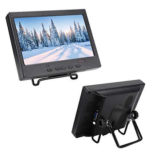 for Raspberry Pi 4B Portable Display Monitor, 7' TFT LCD Display Screen / 1024 * 600 16:9 Display Monitor Support HDMI/VGA/RCA for Raspberry Pi 4B (UK)