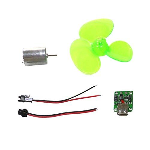 Sharplace Chargeur De Téléphone Mini Éolienne Miniature Modèle Set Kits Enseignement Tool Assembler Jouet