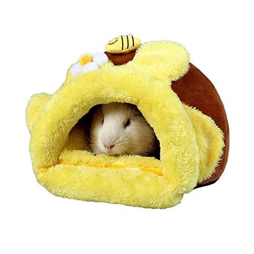 JWShang Hamster Bed, Honing Pot Kleine Huisdier Nest Warm Chinchilla Egel Guinea Varken Bed, Mooie Huis voor Kleine Dieren