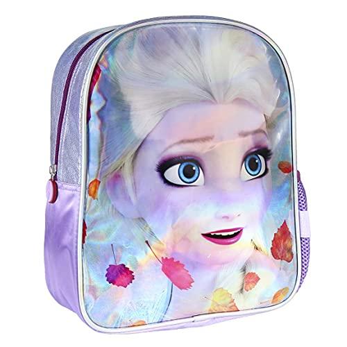Cerdá, Mochila Infantil Metalizada Brillante de Frozen-Licencia Oficial Disney Studios Unisex niños, Multicolor, 260X310X100MM