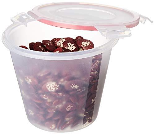 Amazon Brand - Solimo Plastic Kitchen Storage Container Set, 1 Litre, 3-Pieces, Transparent