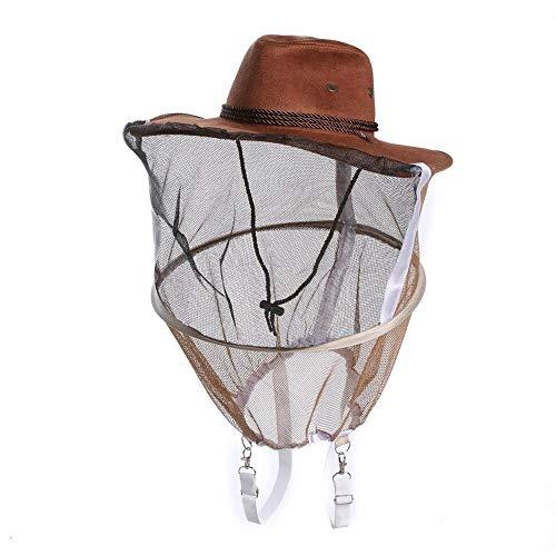 KOQIO imker anti-bij cowboy hoed bijenteelt sluier muggen insect net sluier hoofd gezicht beschermer verdikte pet bijenteelt gereedschap