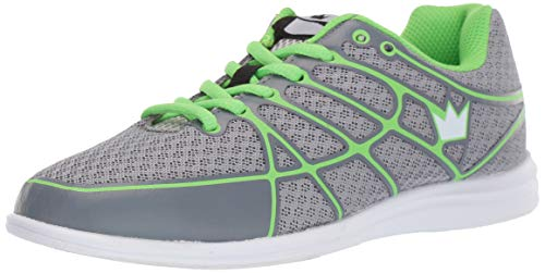 Brunswick Aura Women's Bowling Shoes, Grey/Lime, 9.5