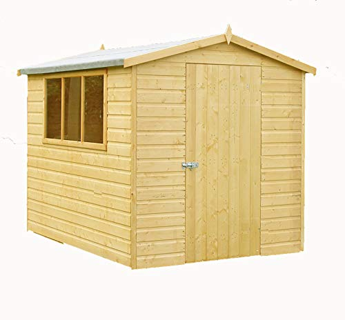 Shire Lewis 8x6 SD Shed, Brown