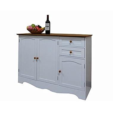 Homecharm-Intl 43.3x15.8x30.7-Inch Storage Cabinet,White(HC-001)