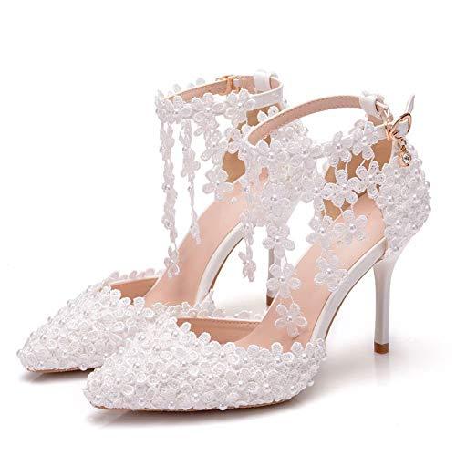 Bewinch Zapatos De Novia, Zapatos De Boda Sandalias De Mujer Borla De...