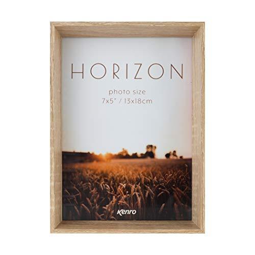 Kenro Horizon Bilderrahmen, 40 mm tiefes Profil, helle Esche und dunkle Eiche, MDF, leichte Asche, 7x5 / 13x18cm