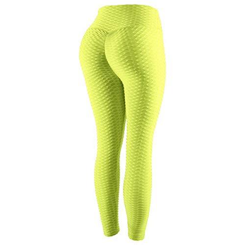 MQQM Running Fitness Estiramiento Yoga Legging,Pantalones de Yoga de Cintura Alta Que levantan la Cadera, Leggings absorbentes de Sudor de Secado rápido-Verde_S,Yoga Running Training Leggings