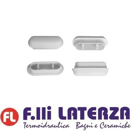 Kit Puffer, 4Stück WC-Sitz-Puffer für Toilettensitze, Holz und Polyester