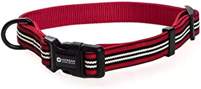 HiDREAM Strategos Dog Collar (L, Red)
