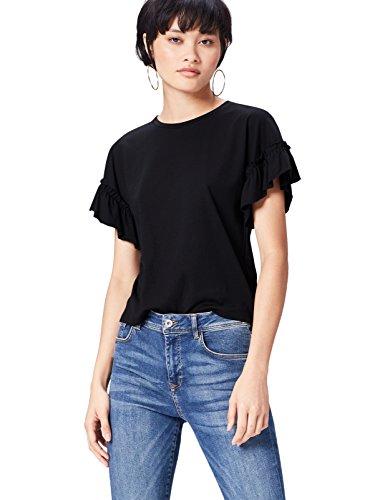 Marca Amazon - find. Blusa con Manga Plisada para Mujer