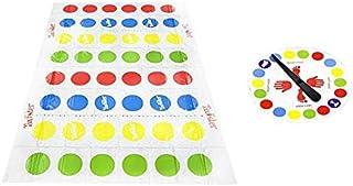 Juegos de Suelo Tapete Twister Hasbro Juego Divertido Familiar Juego de Mesa Infantil para Padres e Hijos Juego de Piso de Habilidad para Niños y Adultos (Multicolor, 160 * 110cm)