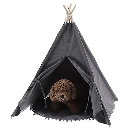 Ejoyous Maison de jeu pour chien - Tente pour animaux de compagnie pour le salon, le balcon pour le jardin (gris)