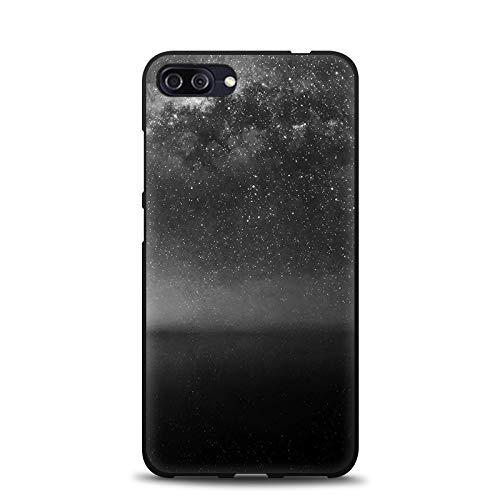 Aksuo for Asus Zenfone 4 Max ZC554KL 5.5 Inch Schwarz Hülle Silikon, TPU Silikonhülle Handyhülle Kratzfest Stylisch Muster Design Robust Leicht Case - Ich wünsche Meteorschauer