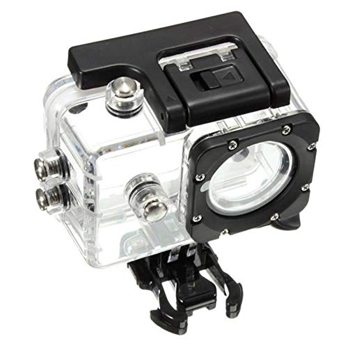 EPMEA0 1 unid Buceo Camera de natación Caja Impermeable Cubierta Protectora para SJCAM SJ4000 Acción Deporte Cámaras DJA99 (Color : Clear)