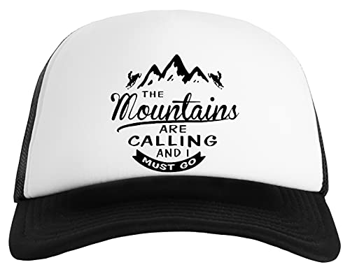 Mountains Are Calling and I'm Going Gorra Clásica De Béisbol para Hombre y Mujer Unisex Ajustable Snapback Baseball Cap