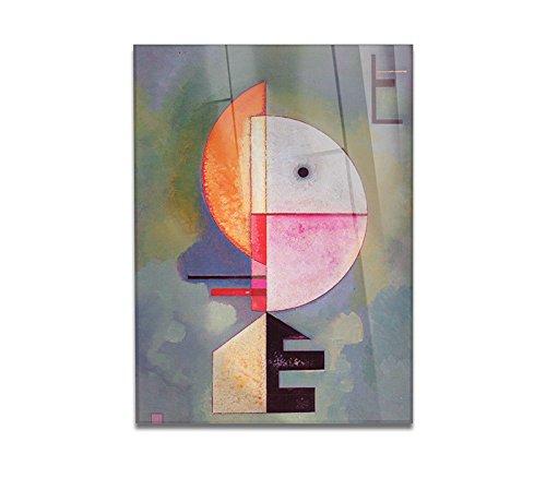 Giallobus - Cuadro - Impresion en Vidrio acrilico de plexiglas Kandinsky - Cuadro Abstracto Verso LALTO - Pinturas Modernas de plexiglas - Varios formatos - 100 x 140 CM