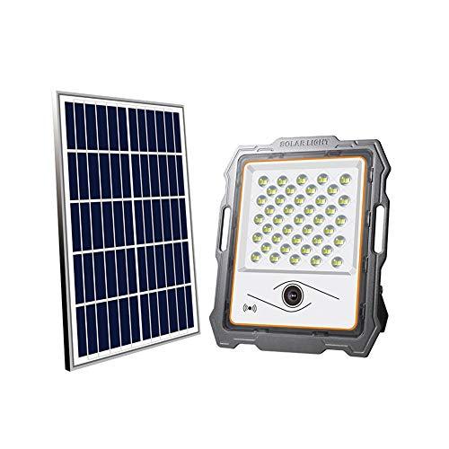 Proyectores Led Exterior Cámara Inteligente A Prueba De Agua APP De Control Inteligente Iluminación De Seguridad De Alta Potencia Para Exteriores Luz Solar Para Jardín En Casa Foco Proyect(Color:100W)