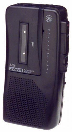 GE 35381 Voice-Activated Microcassette Recorder