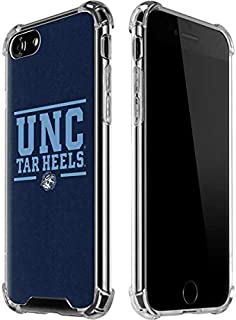 Skinit Clear Phone Case for iPhone 8 - Officially Licensed College UNC Tar Heels Design