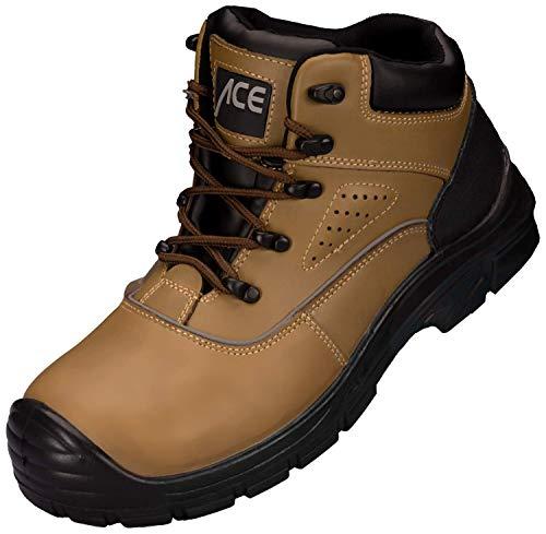 ACE Forester S1-P Botas Industriales Seguridad Trabajo - con Puntera - Piel - para Hombres ✅
