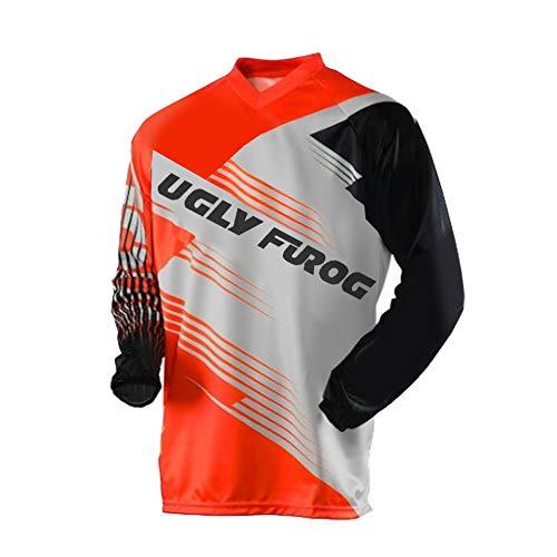 Uglyfrog 2020 Herren Mountainbike Downhill Freeride BMX Trikot Shirt Motocross Lange Ärmel MTB/Downhill Cycling Jersey