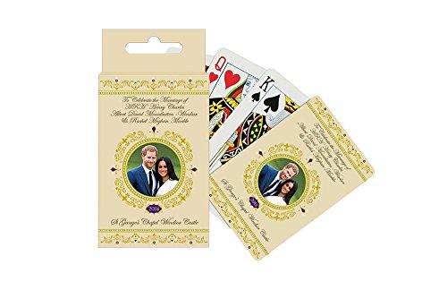 -Carte da gioco commemorative per il matrimonio del principe Harry & Meghan Markle, celebrato il 19 maggio 2018