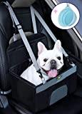 MARSLABO Small Dog Car Seat, Dog Car Booster Seat with Clip-on Safety Leash, Dog Car Seat Perfect for Small Dogs Up to 15 Lbs