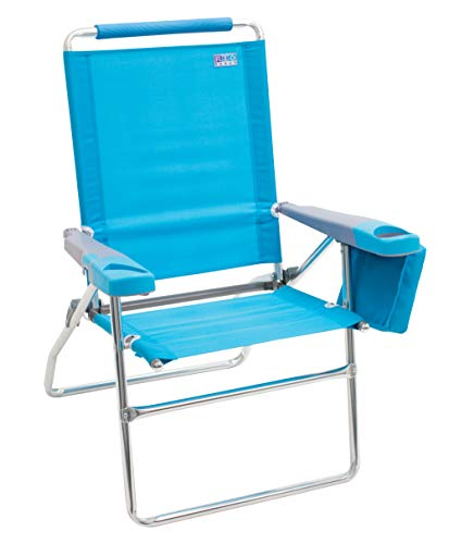 Rio Beach 17' Extended Height 4 Position Folding Beach Chair...